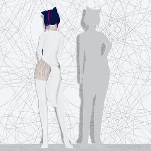 オリジナル3Dモデル「逢魔 時音・ White」ver1.02