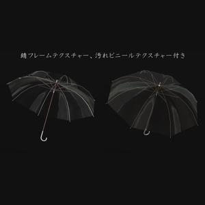 水の滴るビニール傘