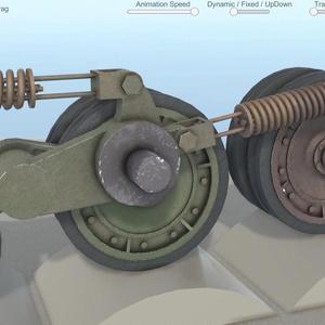 九七式中戦車のサスペンションを観察するアプリ