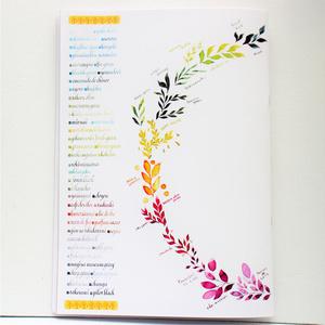 【自家印刷】Calligraphy Memo カリグラフィー メモ  - 万年筆インクとカリグラフィー -