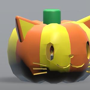 猫型ジャックオランタン(VRChat想定)