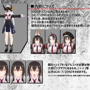 VR用3Dモデル「2A-7/LC (ニアナ/ライトカスタム)」