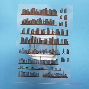 建物のシルエット4 レジン封入用フィルム