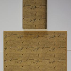紙製ブックカバー 恐竜ヴィンテージイラスト