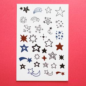 手描きの星 タトゥーシール