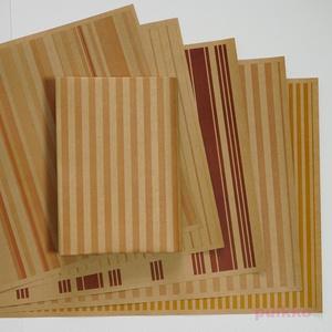 紙製ブックカバー ストライプ(暖色系カラー)