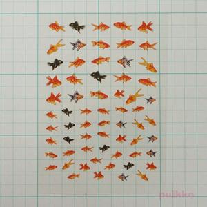 金魚イラスト3 レジン封入用フィルム