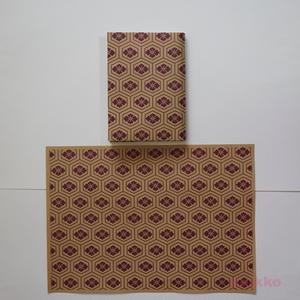 紙製ブックカバー 和柄パターン3(カラー)