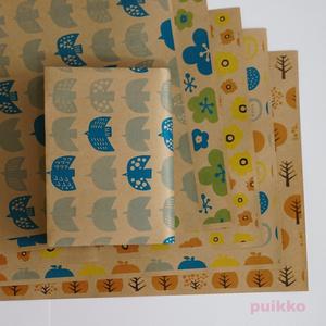 紙製ブックカバー 北欧パターン(カラー)