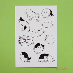 広重「浮世画譜」猫1 タトゥーシール