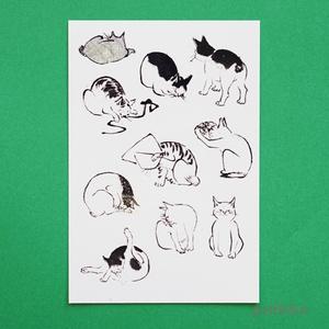 広重「浮世画譜」猫2 タトゥーシール