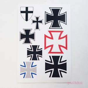 鉄十字&黒十字 タトゥーシール