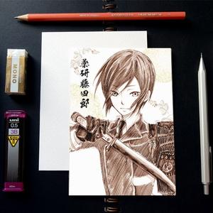 刀剣乱舞 スケッチ風 ポストカード ─ 薬研藤四郎