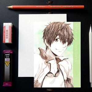Free! スケッチ風 ポストカード ─ 橘真琴