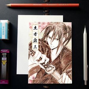 薄桜鬼 スケッチ風 ポストカード ─ 土方歳三