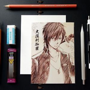 刀剣乱舞 スケッチ風 ポストカード ─ 大倶利伽羅