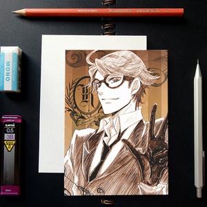黒執事 スケッチ風 ポストカード ─ ロナルド・ノックス