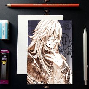 黒執事 スケッチ風 ポストカード ─ 葬儀屋