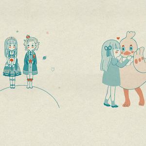 ブックカバー&しおり ひなスミセット/あか珠璃セット