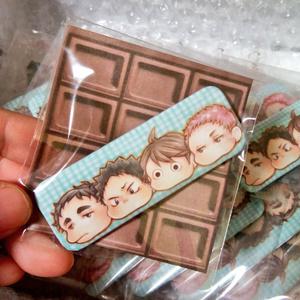 青城3年・缶バッチ(もっちりチョコミント味)