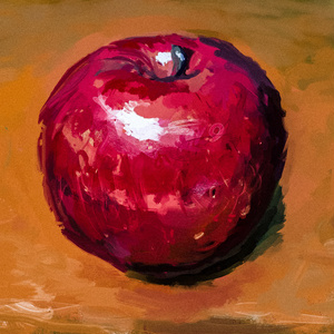 りんご トートバッグ