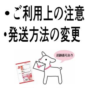 【注意書き】ご利用前にお読みください【送付オプションについて】