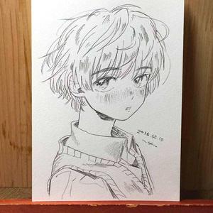 "drawing ""視線"""