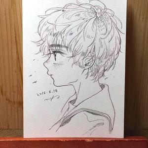 "drawing ""凪"""
