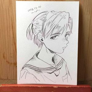 "drawing ""憂"""
