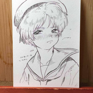 "drawing ""意地"""