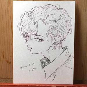 """drawing """"ひねくれ"""""""