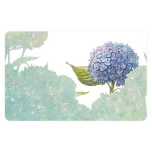 2枚入!青時雨に輝く紫陽花のICカードステッカー
