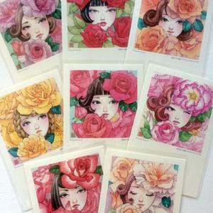 ポストカード8枚セット【薔薇女子図鑑】