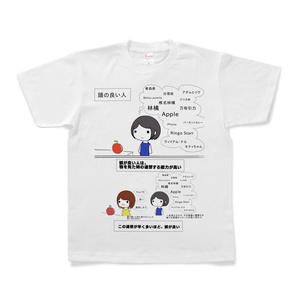 頭の良い人と悪い人の物の見方の違いTシャツ(頭の良い人)