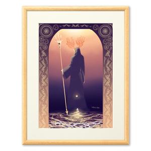 宵闇と海の王(複製画)