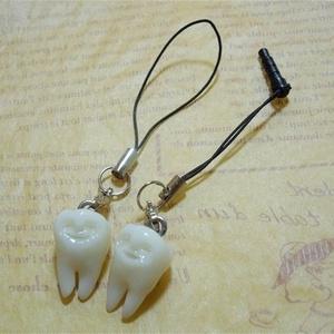 歯のストラップ Goohaストラップ トゥースフェアリー(歯の妖精)ラッキートゥース lucky tooth 寓歯堂オリジナル