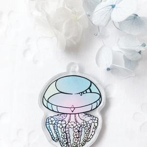 【お花クラゲ】アクリルキーホルダー