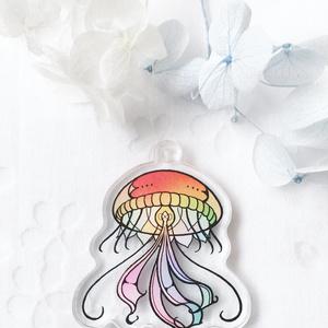 【虹クラゲ】アクリルキーホルダー
