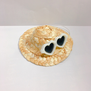 ぬい用麦わら帽子ホワイト(ハート)