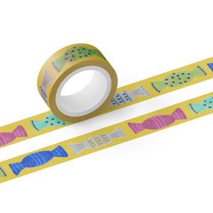 マスキングテープ  キャンディ 黄