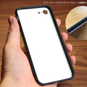 黒猫ぷーちゃんがいっぱい居る強化ガラス製iphoneケース