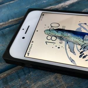 スクエア型強化ガラス製iphoneケース 『song』