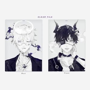 クリアファイル(喫煙悪魔&天使)