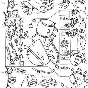 くらげのクラッキー塗り絵Vol.4