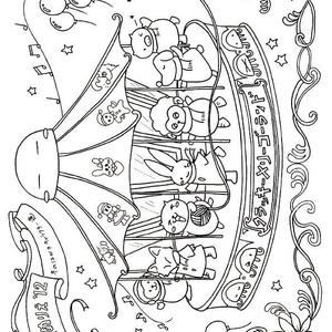 くらげのクラッキー塗り絵Vol.5