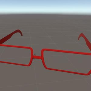 8ポリゴン眼鏡No.002『スクエア型/フルリム』色変更可!