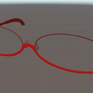 8ポリゴン眼鏡No.003『オーバル型/アンダーリム』色変更可!