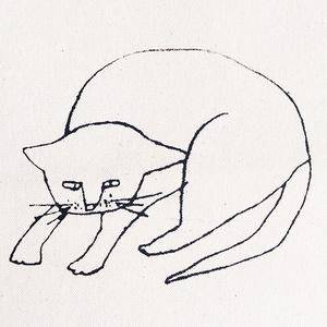 「猫」トートバッグ