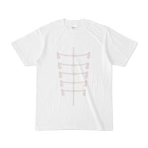 肋骨服ホワイトTシャツ