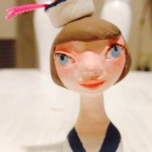 小さい人形 セーラー服